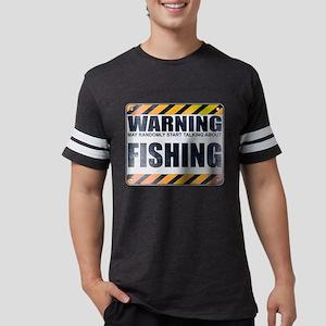 Warning: Fishing Mens Football Shirt
