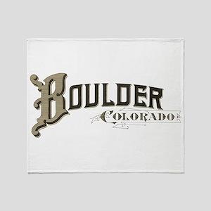 Boulder Colorado Throw Blanket