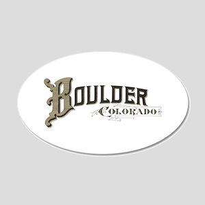 Boulder Colorado 20x12 Oval Wall Decal