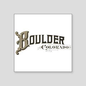 """Boulder Colorado Square Sticker 3"""" x 3"""""""