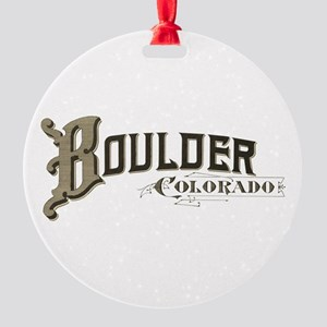 Boulder Colorado Round Ornament