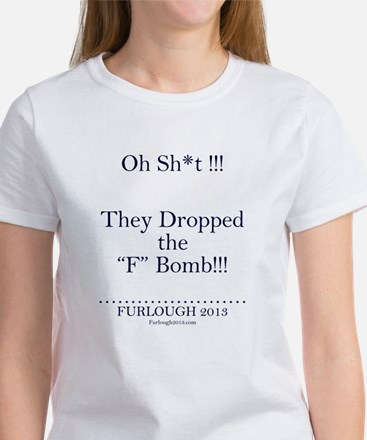 The F Bomb (Navy Blue Letters) T-Shirt