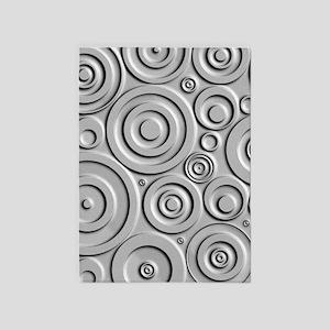 Metallic Circles 5'x7'Area Rug