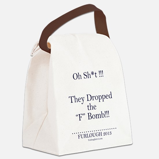 The F Bomb (Navy Blue Letters) Canvas Lunch Bag