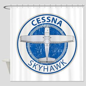 Aviation Cessna Skyhawk Shower Curtain