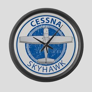 Aviation Cessna Skyhawk Large Wall Clock