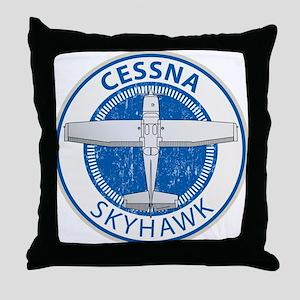 Aviation Cessna Skyhawk Throw Pillow