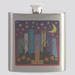 Miami Skyline Mega Color Flask