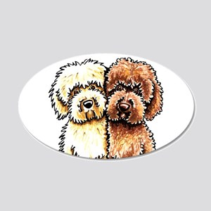Yellow Chocolate Labradoodle Wall Decal