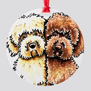 Yellow Chocolate Labradoodle Ornament