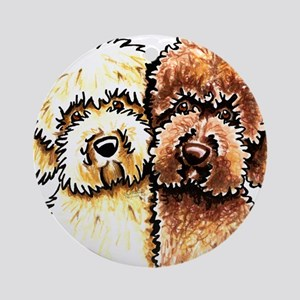 Yellow Chocolate Labradoodle Ornament (Round)