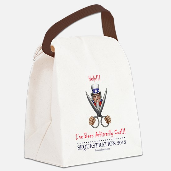 Arbitrarily Cut Canvas Lunch Bag