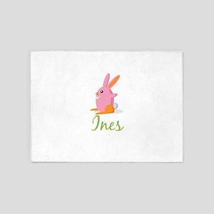 Easter Bunny Ines 5'x7'Area Rug
