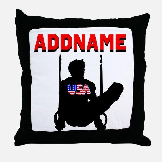 AMERICAN GYMNAST Throw Pillow