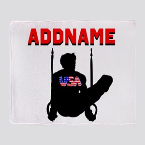 AMERICAN GYMNAST Throw Blanket