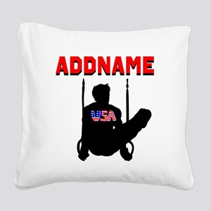 AMERICAN GYMNAST Square Canvas Pillow