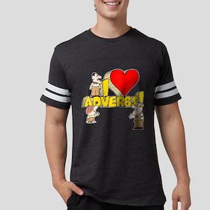 I Heart Adverbs Mens Football Shirt