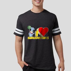 I Heart Conjunctions Mens Football Shirt