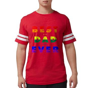 Gay Pride Best Dad Ever Mens Football Shirt