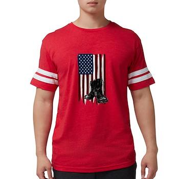 American Flag and Boots Mens Football Shirt