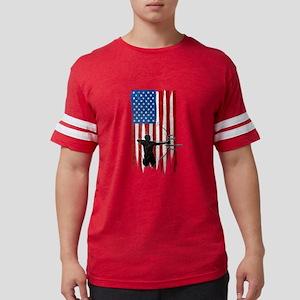 USA Flag Team Archery Mens Football Shirt