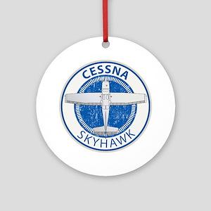 Aviation Cessna Skyhawk Ornament (Round)