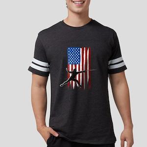 USA Flag Team Fencing Mens Football Shirt