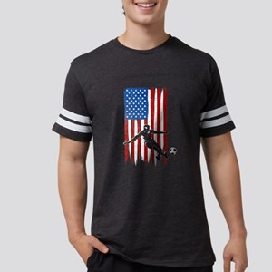 USA Flag Team Soccer Mens Football Shirt