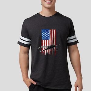 USA Flag Team Rowing Mens Football Shirt