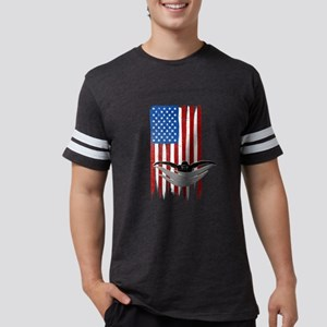 USA Flag Team Swimming Mens Football Shirt