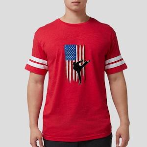 USA Flag Team Taekwondo Mens Football Shirt