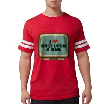 Retro I Heart Once Upon a Tim Mens Football Shirt
