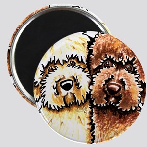 Yellow Chocolate Labradoodle Magnet