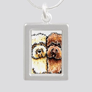Yellow Chocolate Labradoodle Necklaces