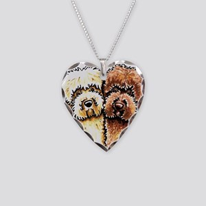 Yellow Chocolate Labradoodle Necklace