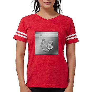 Silver (Ag) Womens Football Shirt