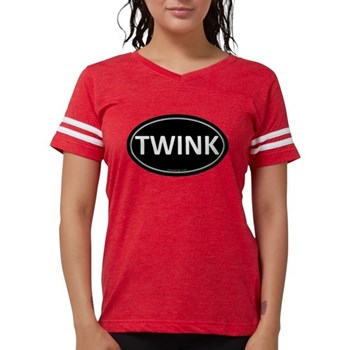 TWINK Black Euro Oval Womens Football Shirt