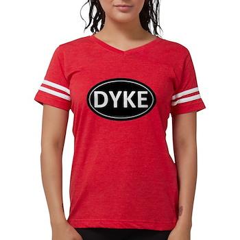 DYKE Black Euro Oval Womens Football Shirt