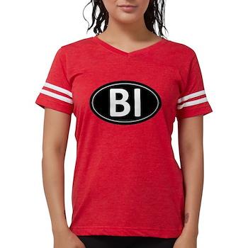 BI Black Euro Oval Womens Football Shirt