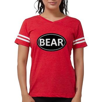 BEAR Black Euro Oval Womens Football Shirt