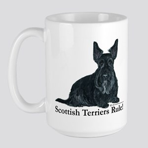 Scottish Terriers Rule! Large Mug