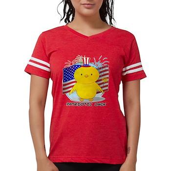 Patriotic Chick Womens Football Shirt