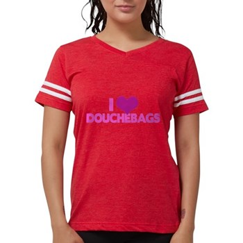I Heart Douchebags Womens Football Shirt