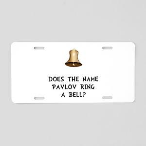 Pavlov Ring Bell Aluminum License Plate