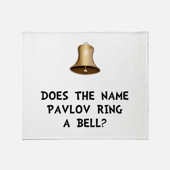 Pavlov Ring Bell Throw Blanket