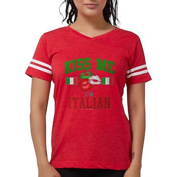 Kiss Me I'm Italian Womens Football Shirt