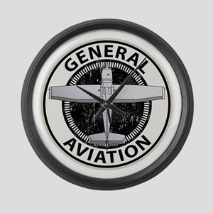 General Aviation Large Wall Clock