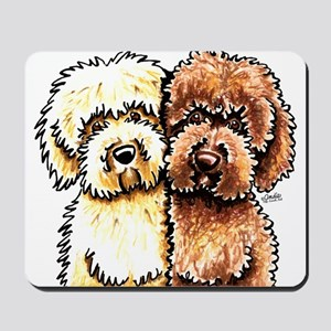 Cream Chocolate Labradoodle Mousepad