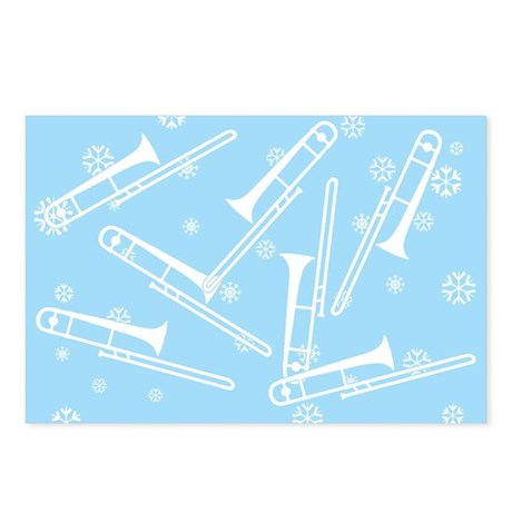 Trombone Snowflakes - Postcards (Package of 8)
