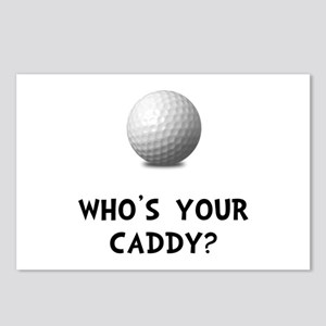 Whos Golf Caddy Postcards (Package of 8)